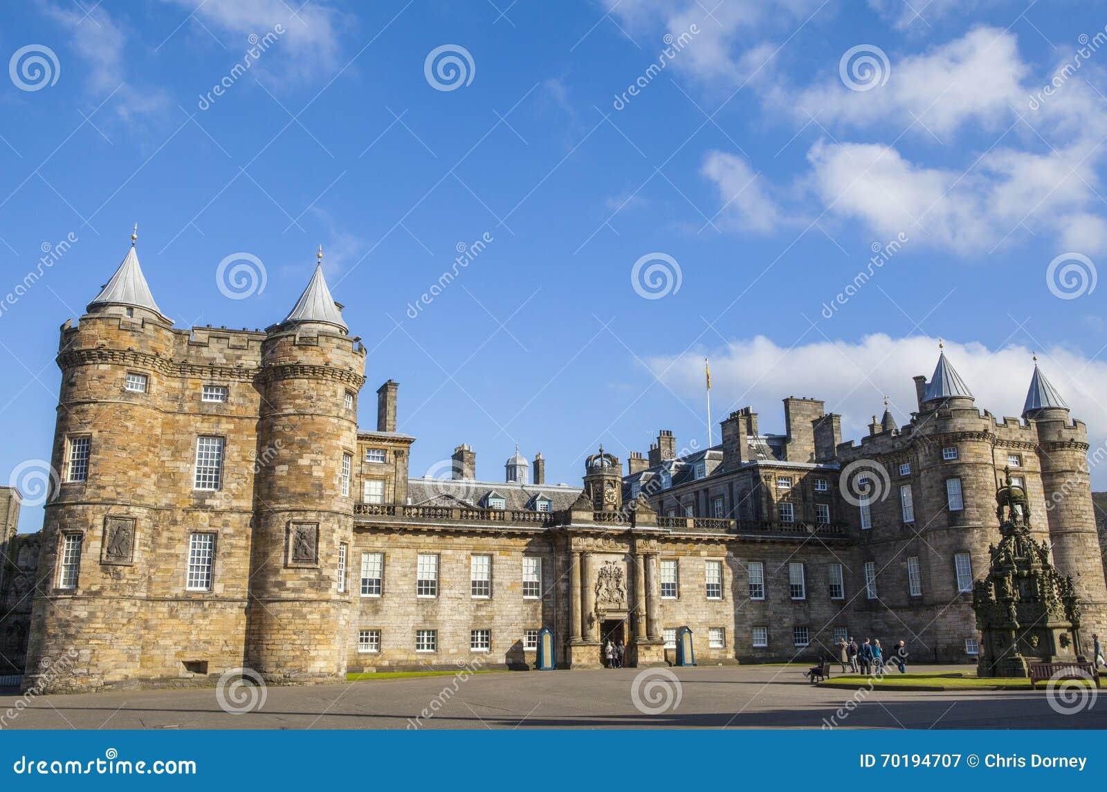 Slott av Holyroodhouse i Edinburg