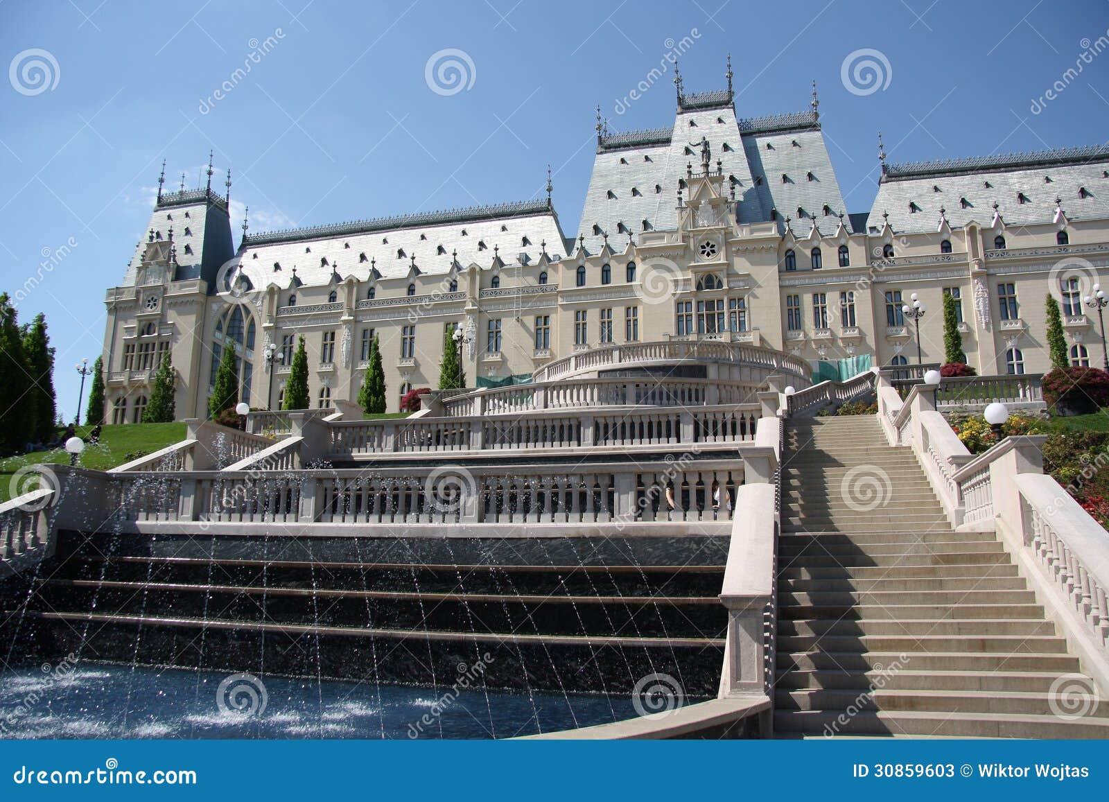 Slott av kultur i Iasi (Rumänien)