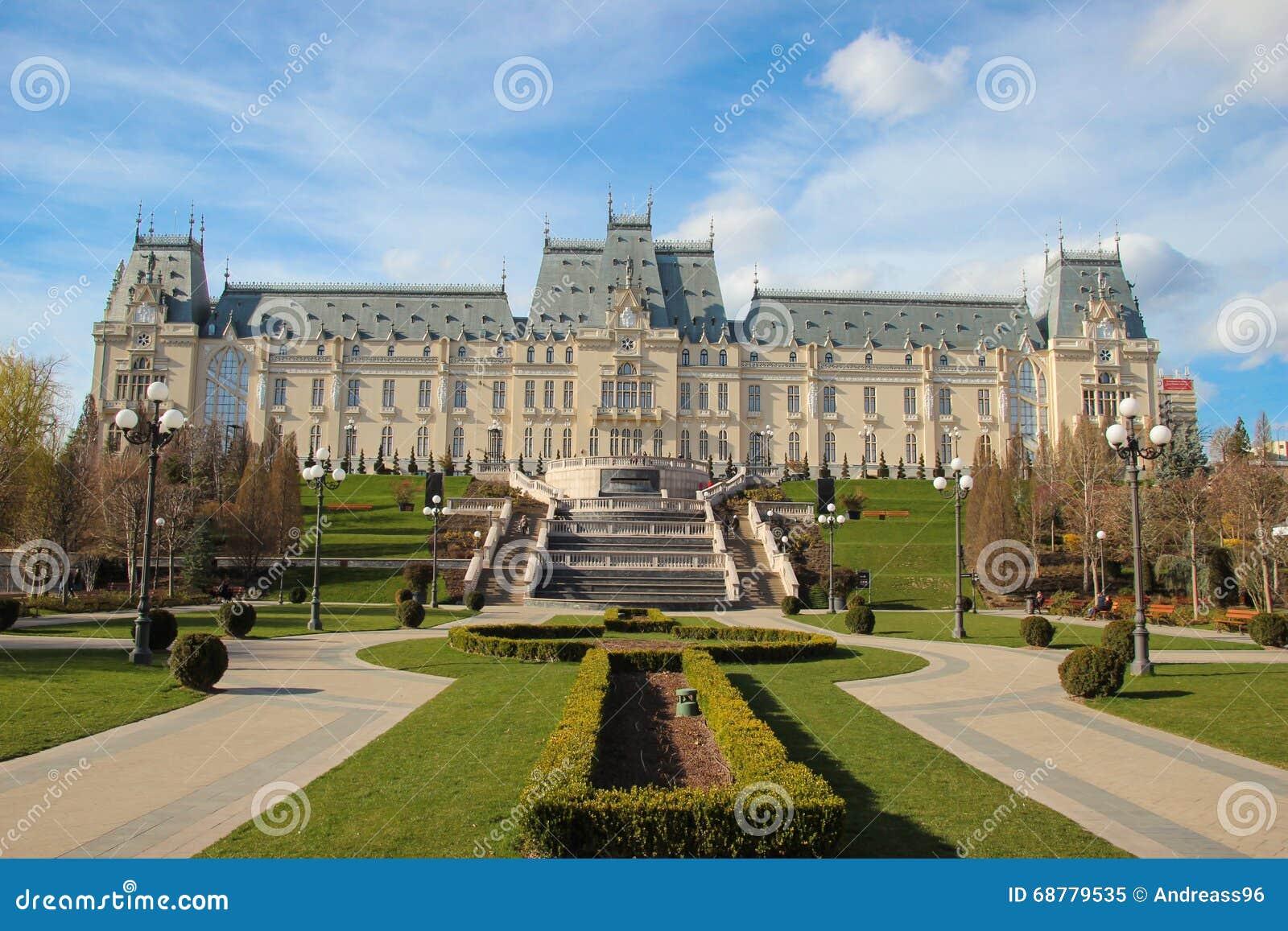 Slott av kultur, Iasi, Rumänien