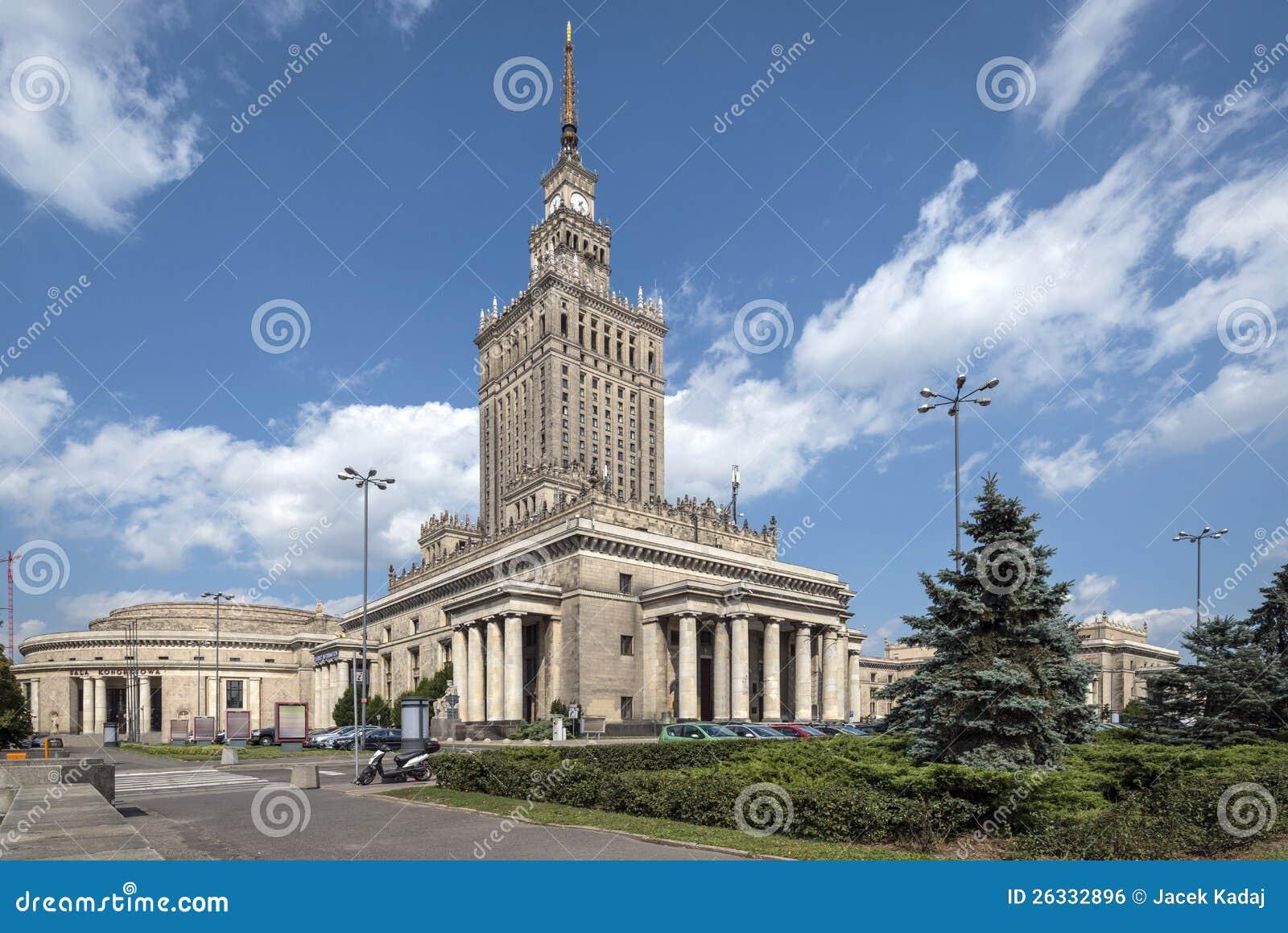Slott av kultur och vetenskap i Warsaw, Polen