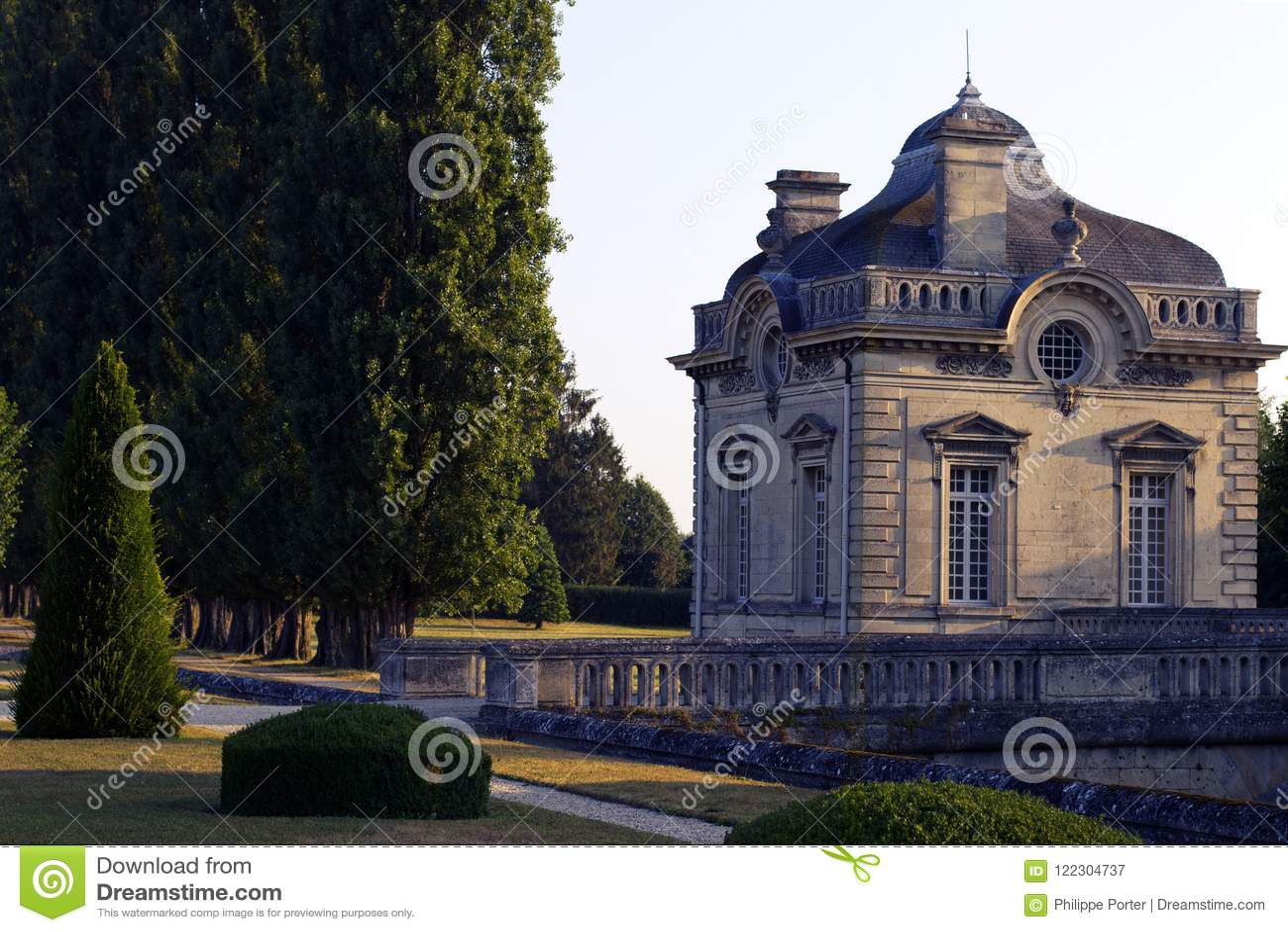 Slott för Franco-amerikan museumBlérancourt fransk amerikansk kamratskap