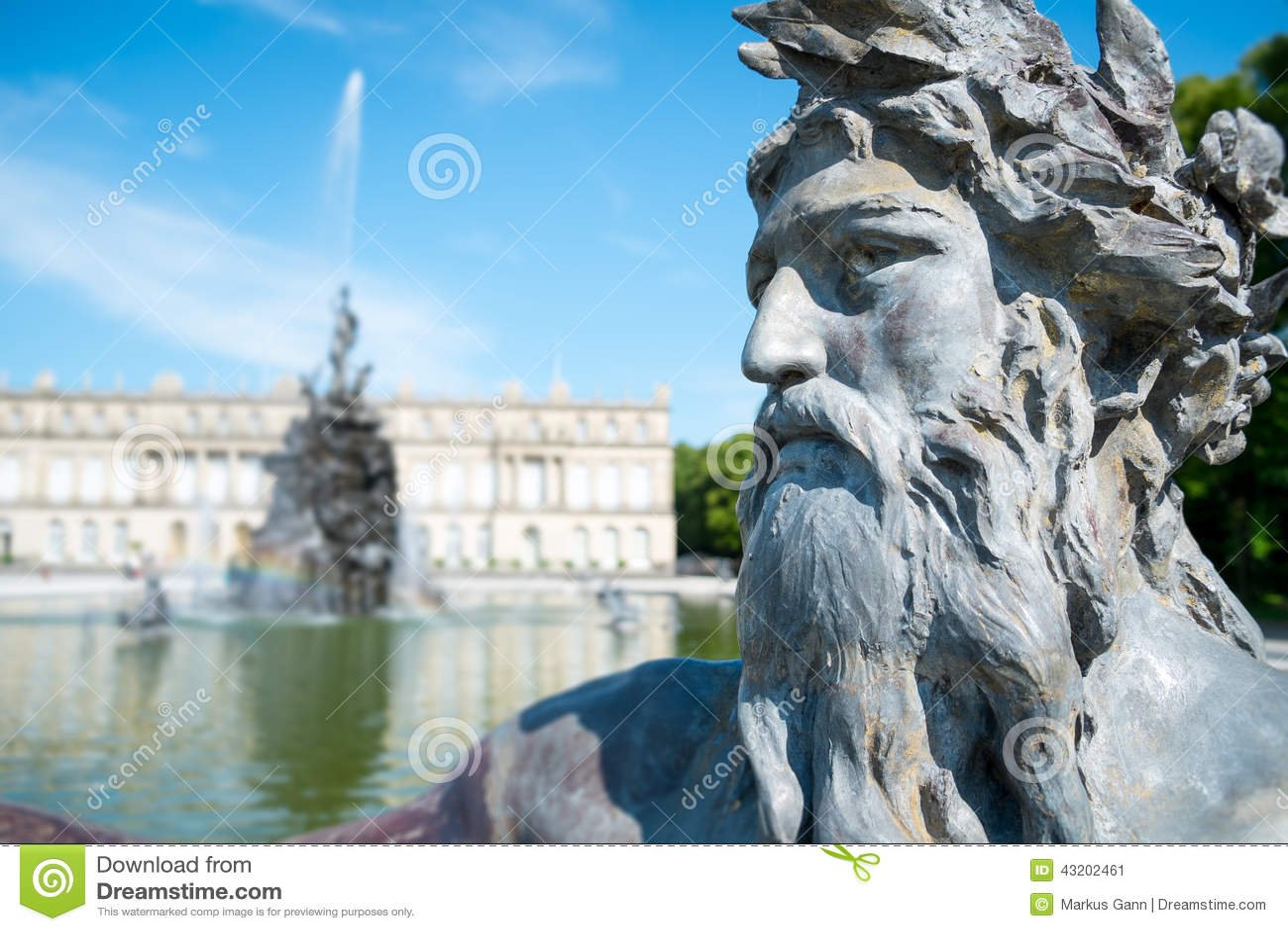Download Slott Herrenchiemsee fotografering för bildbyråer. Bild av bygger - 43202461