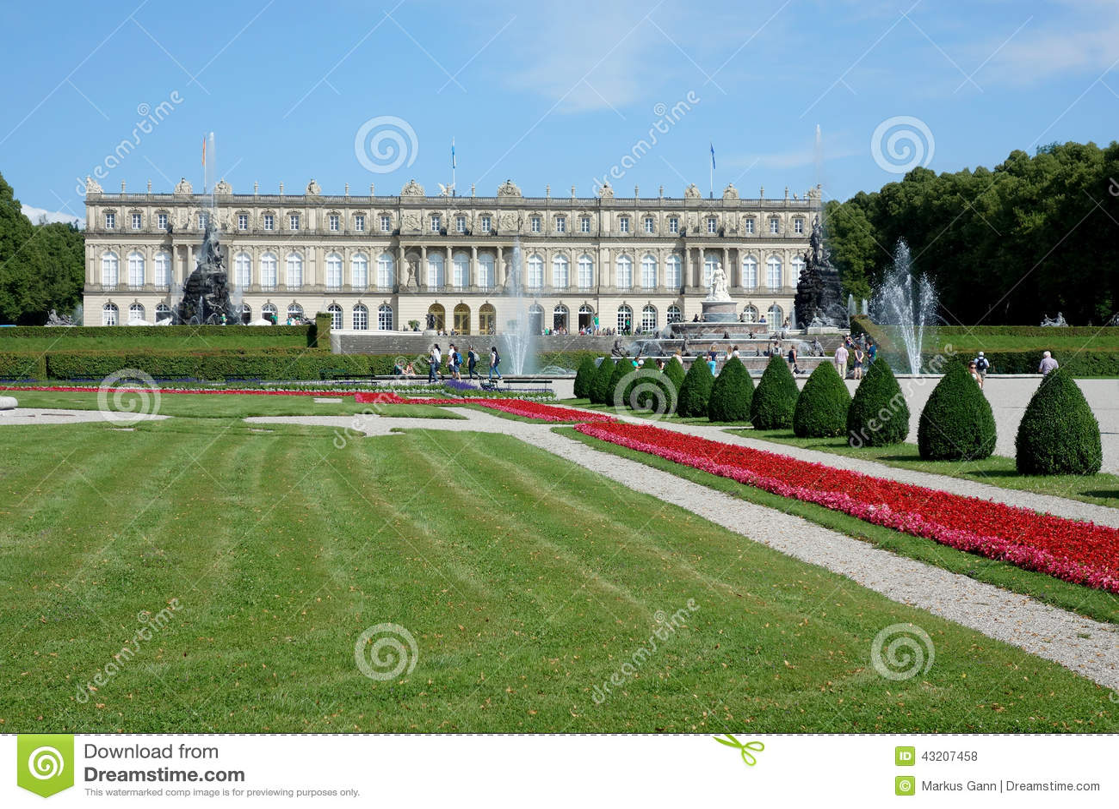 Download Slott Herrenchiemsee arkivfoto. Bild av versailles, bygger - 43207458