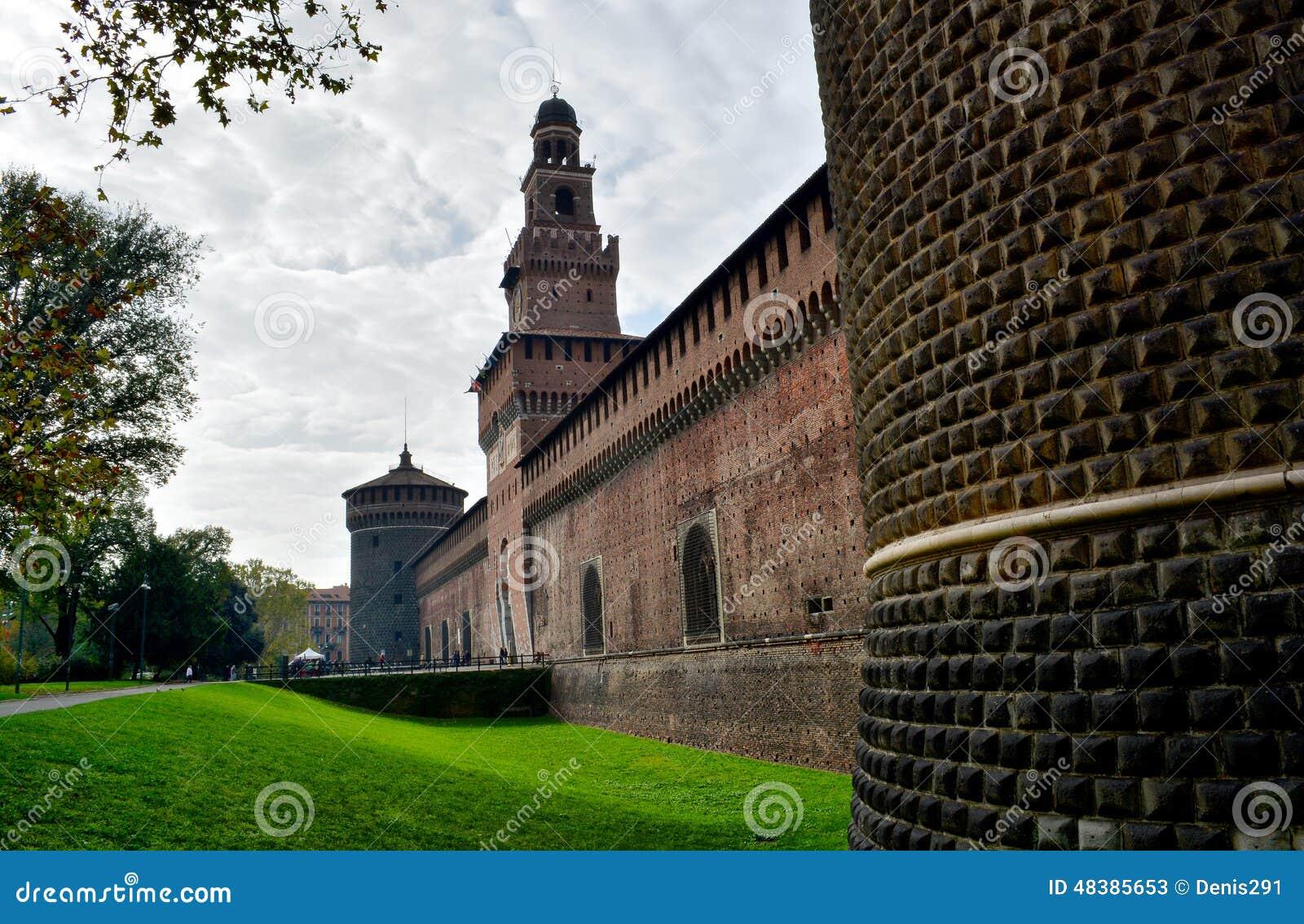 Slott i Milano, Italien