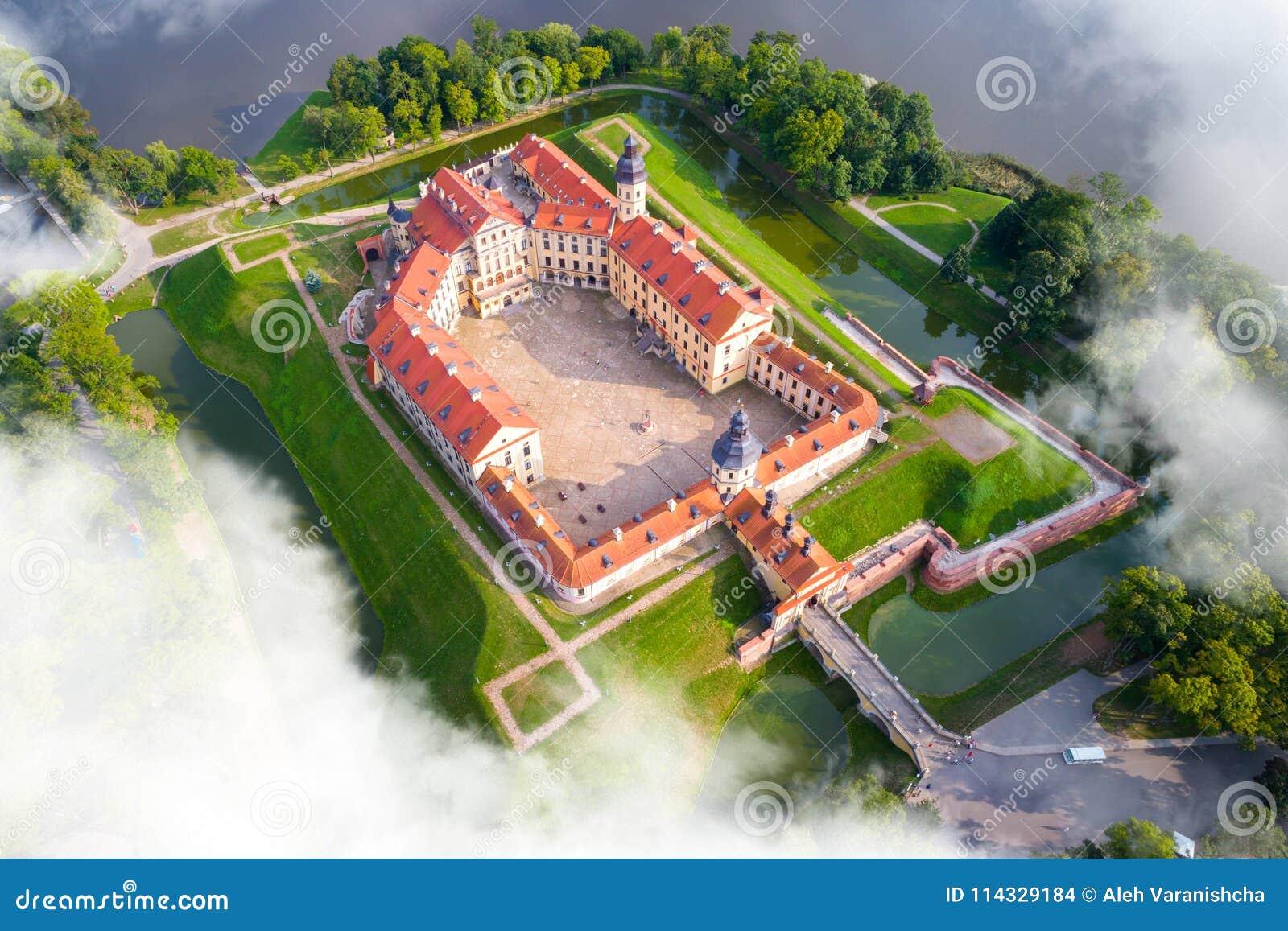Slott i Nesvizh, Minsk region, Vitryssland