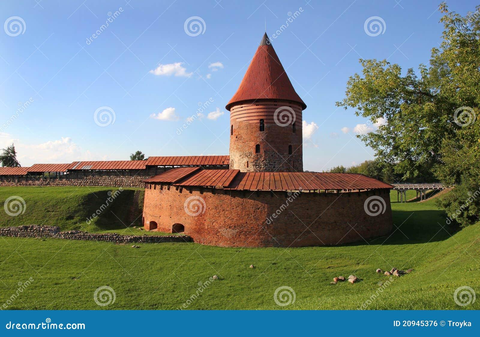 Slott kaunas gammala lithuania
