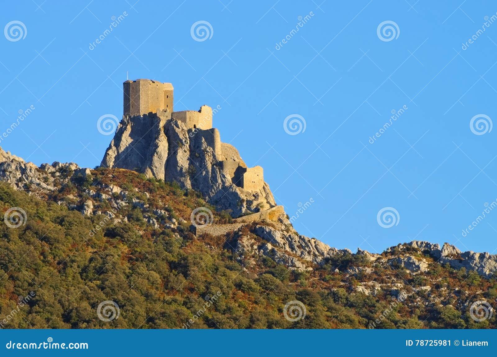 Slott Queribus i Frankrike