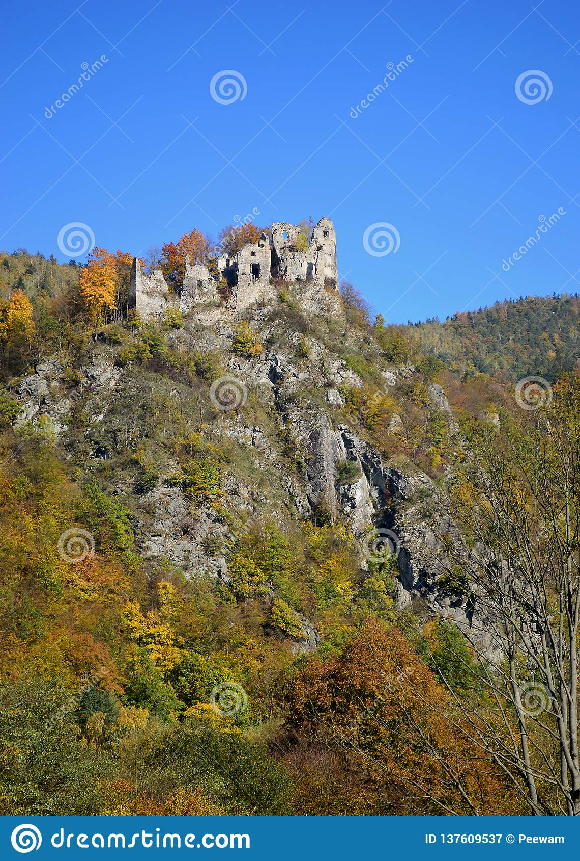 Slotten fördärvar i Slovakien