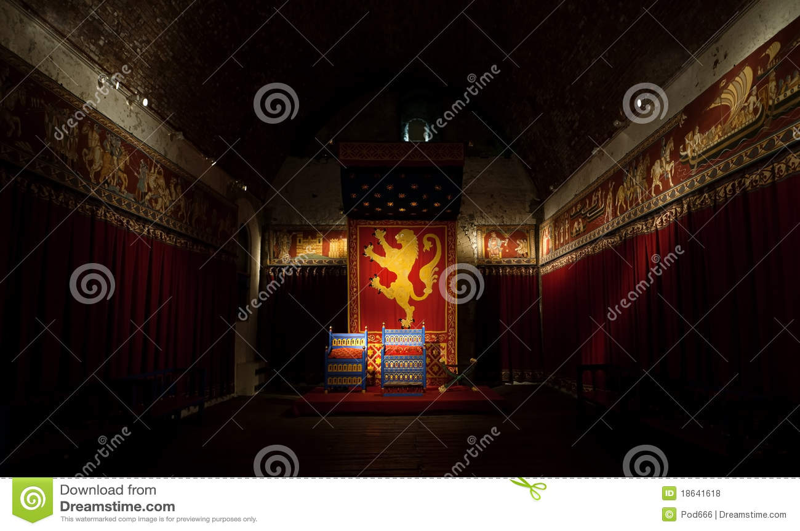 Slottet dover görar till kung lokalbiskopsstolen