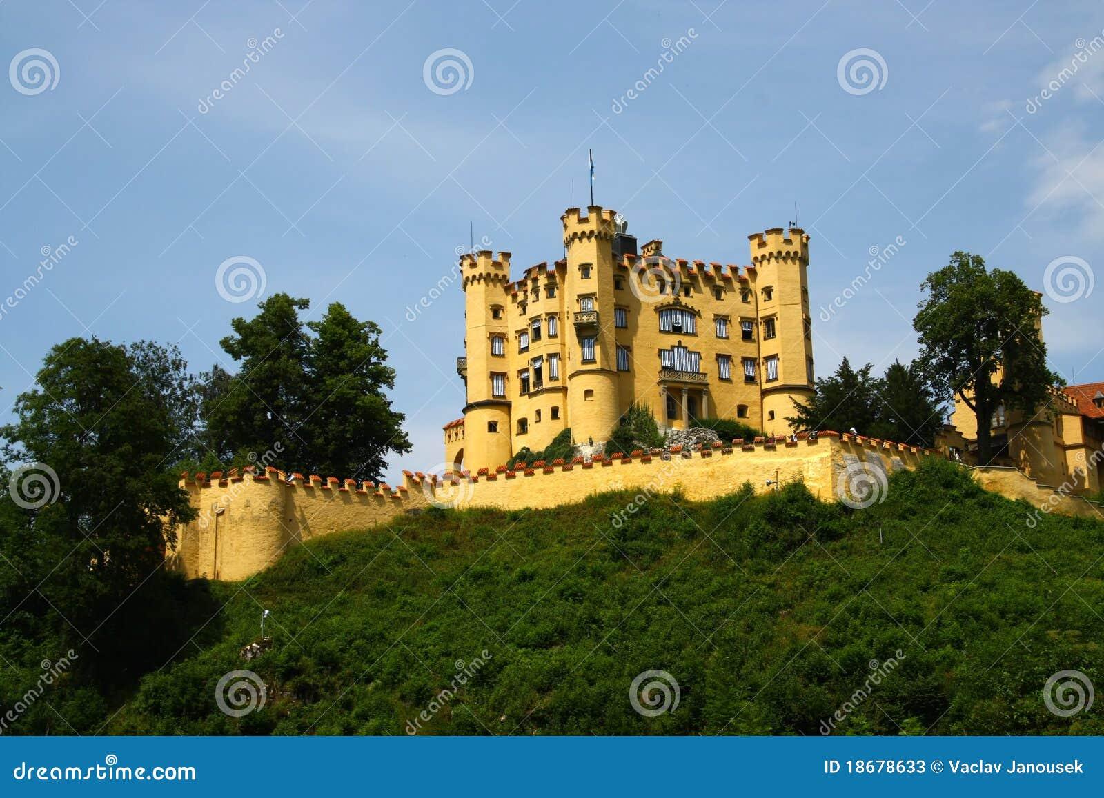 Slottet hohen schwangau