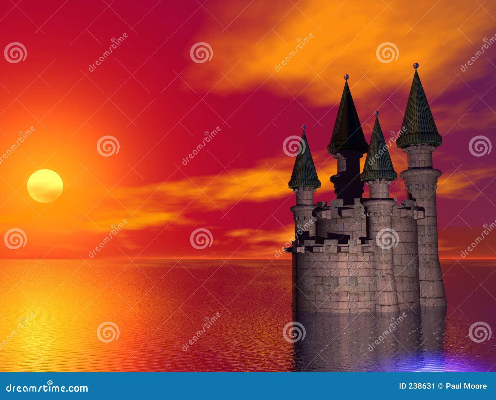 Slottsolnedgång