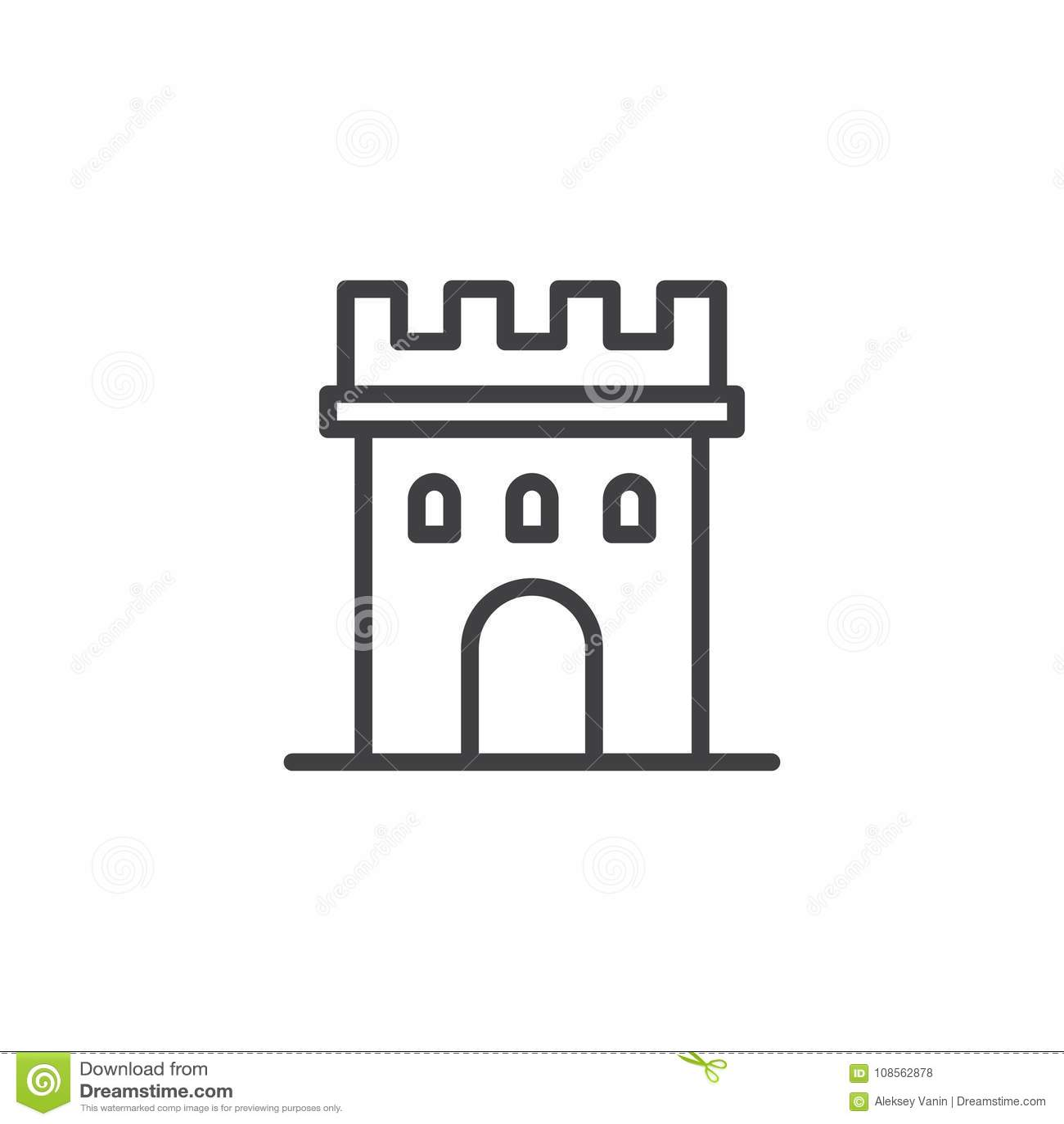 Slotttornlinje symbol