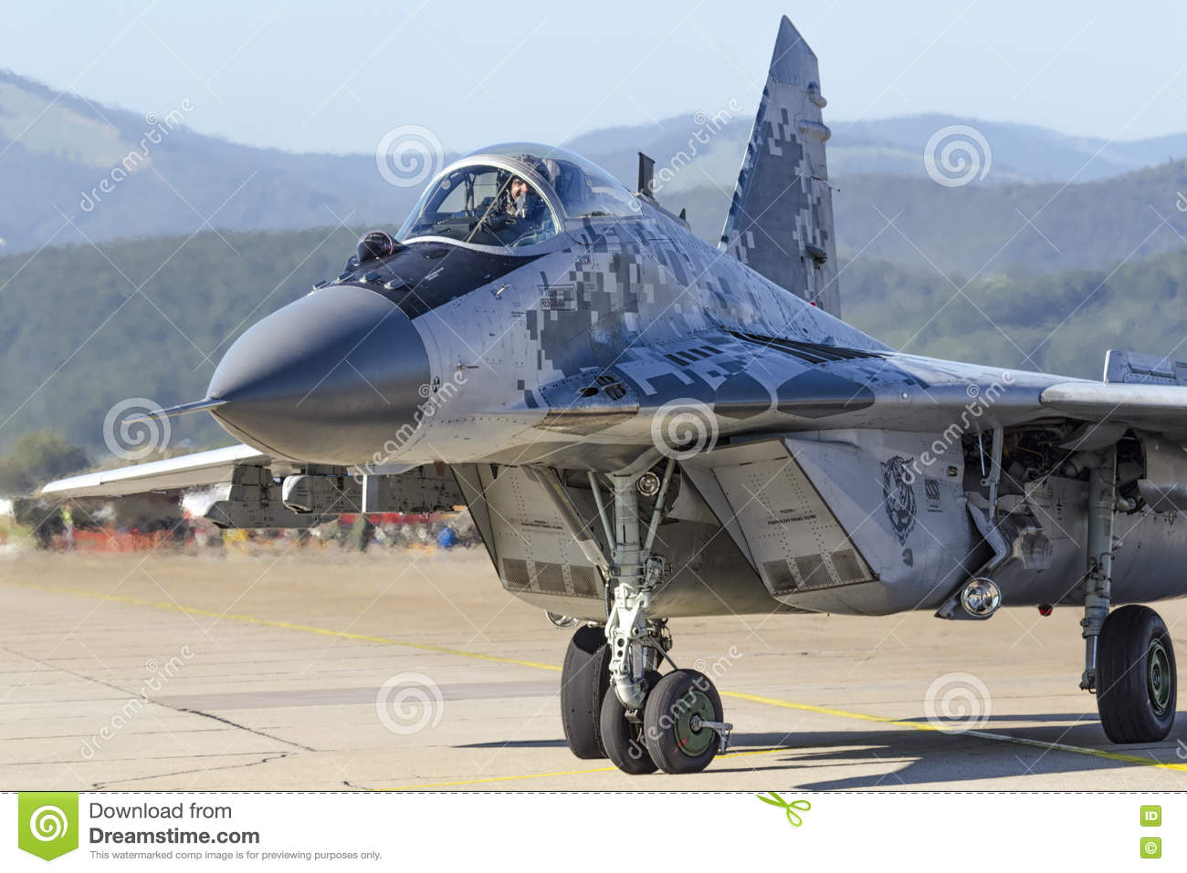 Slovak MiG 29 Fulcrum stock image  Image of airplane - 77085723