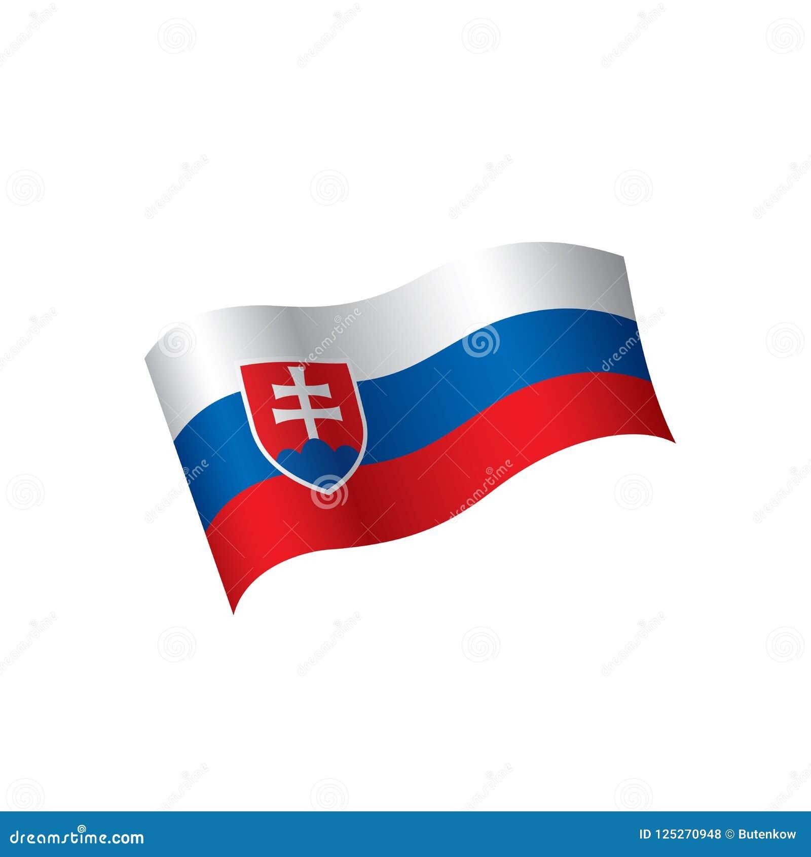 Download Slovakia Flag Vector Illustration Stock