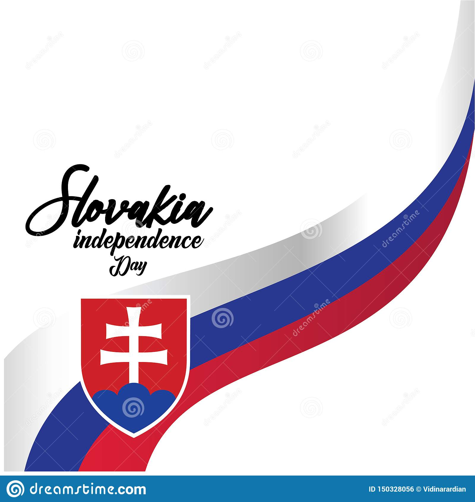 Slovakia Independence Day Vector Template Design Illustration - Vector
