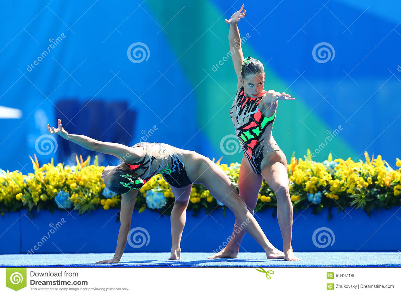 Slovakia`s Nada Daabousova And Jana Labathova Compete During The ...