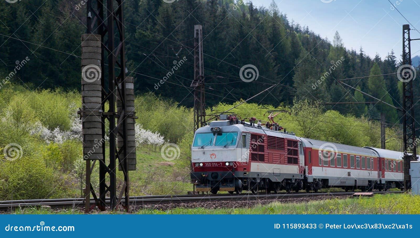 Slovakiska järnvägar för elektrisk lokomotiv 350014-7-