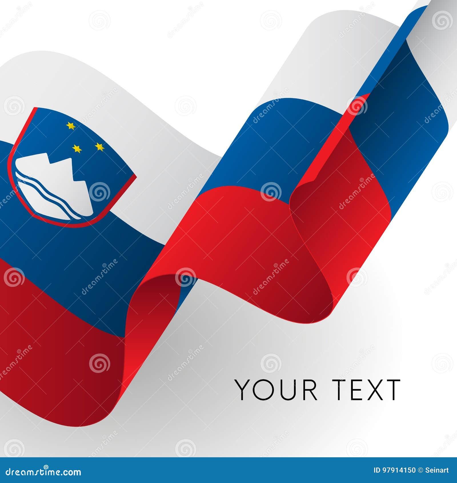Slovenia flaga Patriotyczny projekt wektor