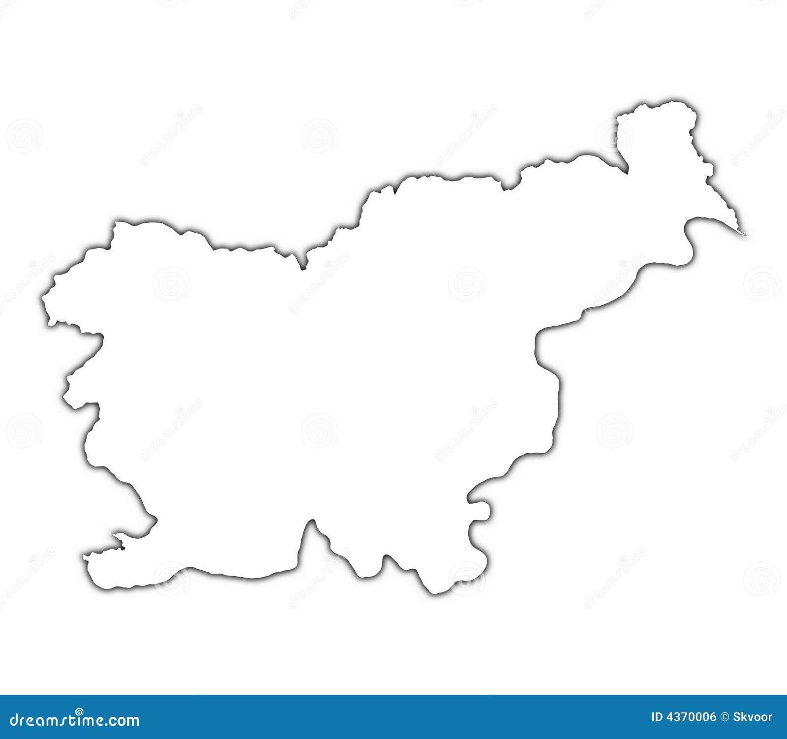 Ukraine Map Outline Slovenia Outline Map R...