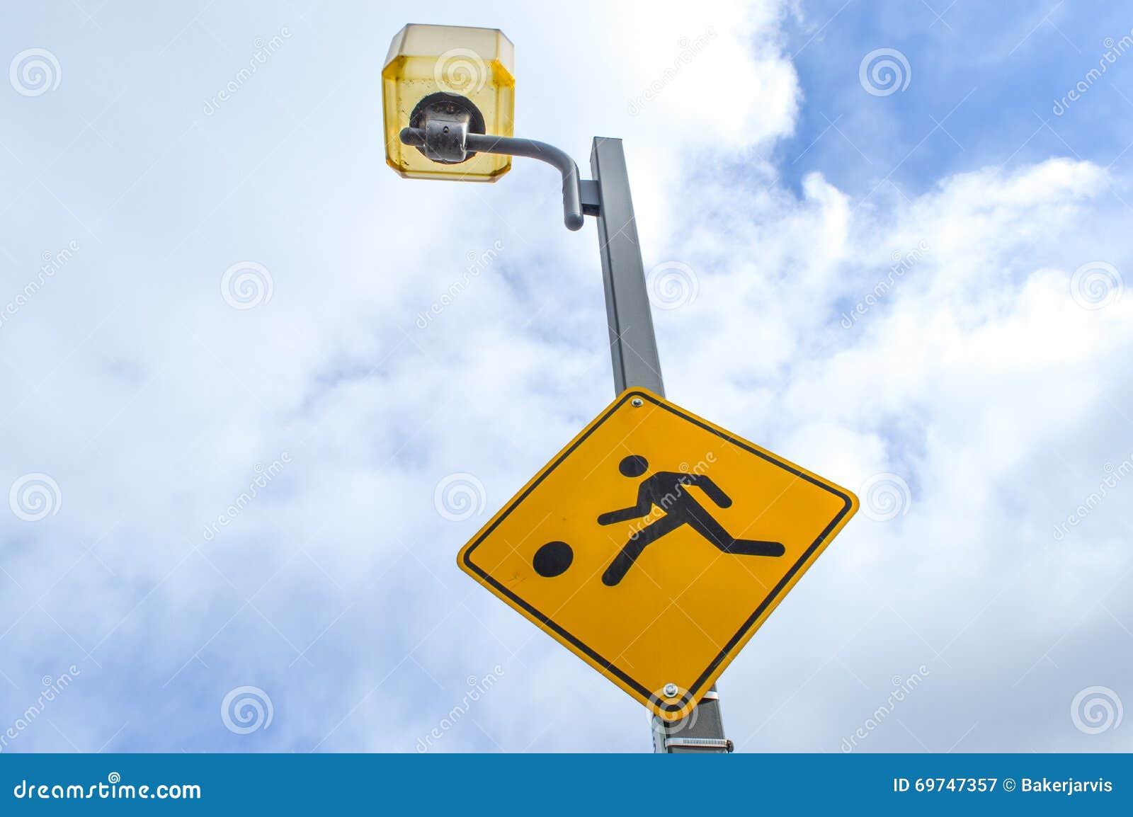 Slow children caution sign