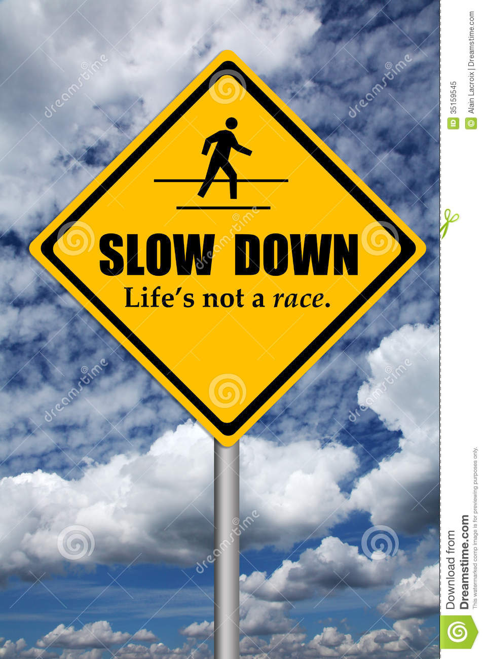 Slow Down Royalty Free Stock Photo Image 35159545