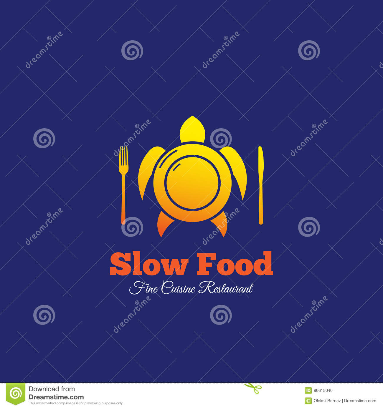 Slow food abstract vector sign emblem or logo template plate slow food abstract vector sign emblem or logo template plate with fork and knife mixed with turtle silhouette biocorpaavc