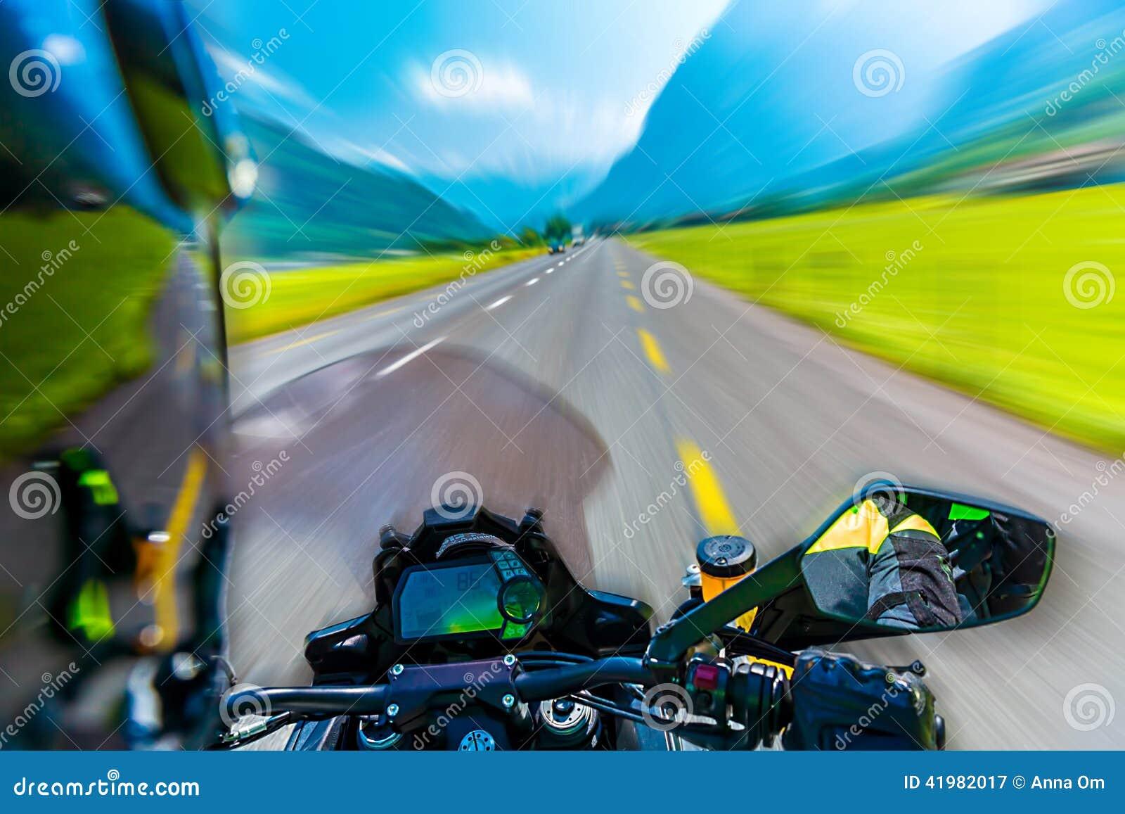 Slow motion of motorbike