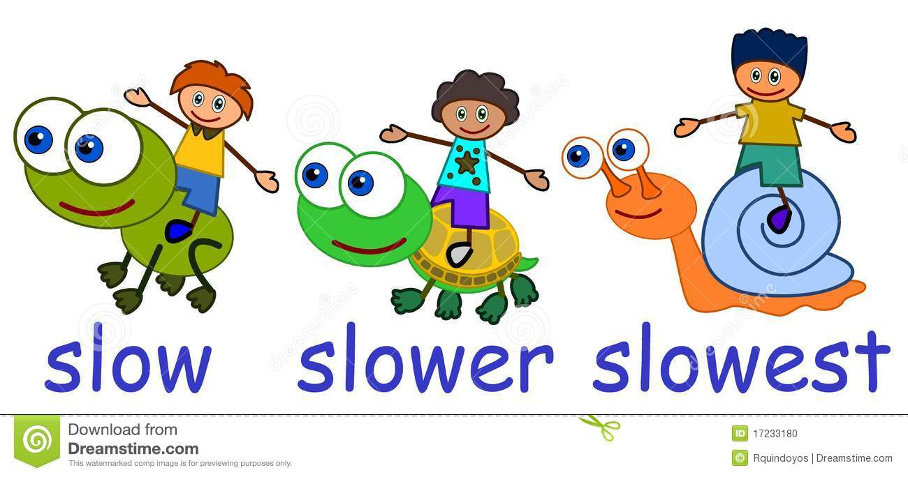 Stock Photo: Slow slower slowest. Image: