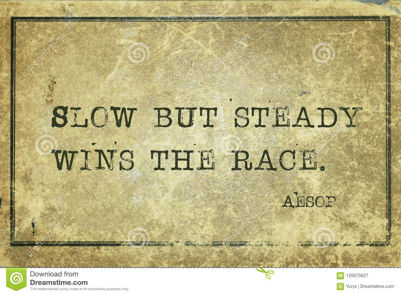 Slow But Steady Aesop Stock Image Image Of Slow Race 120675627