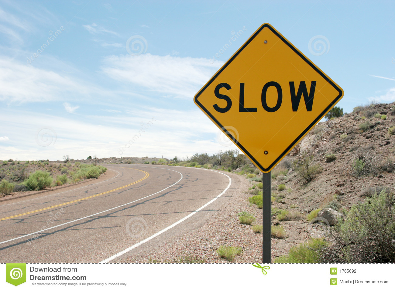 Slow Traffic Sign Stock Photography Image 1765692