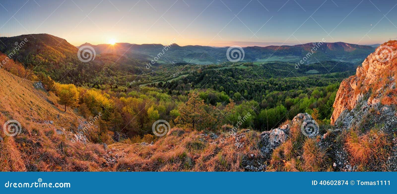 Slowakei-Frühlingswaldpanorama