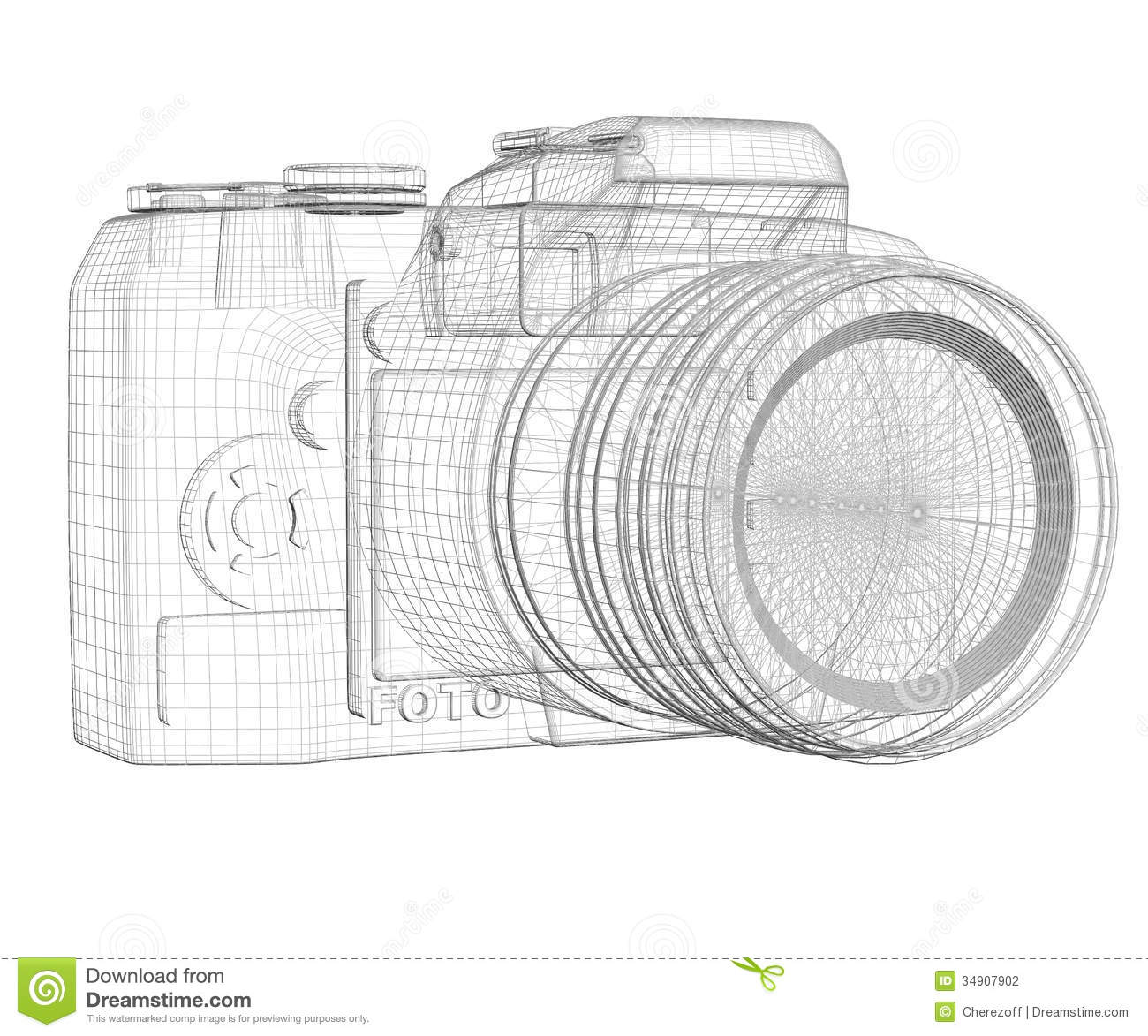 Slr camera wire frame stock illustration illustration of focus royalty free stock photo malvernweather Images
