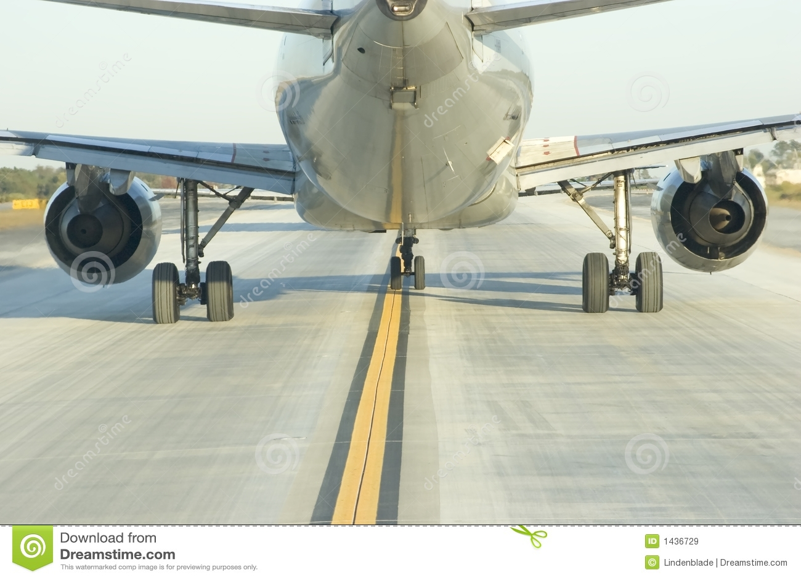 Sluit achter Lijnvliegtuig