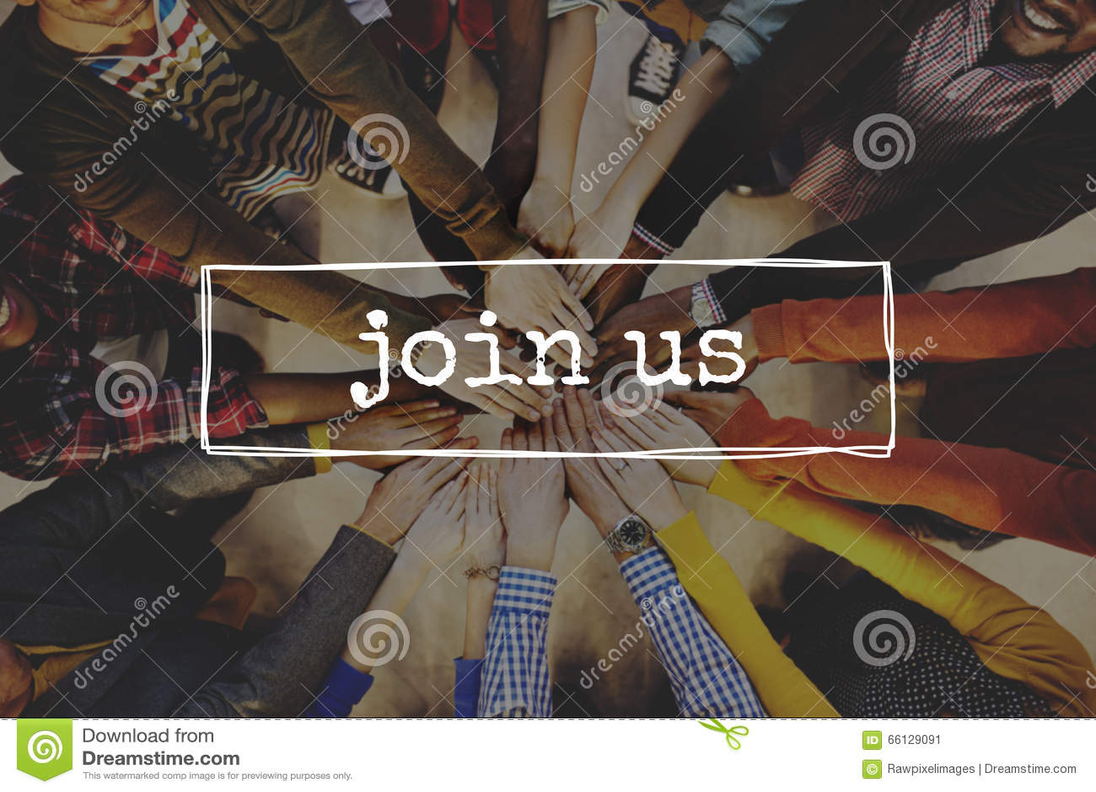 Sluit me aan bij ons Team Recruitment Register Membership Hiring-Concept