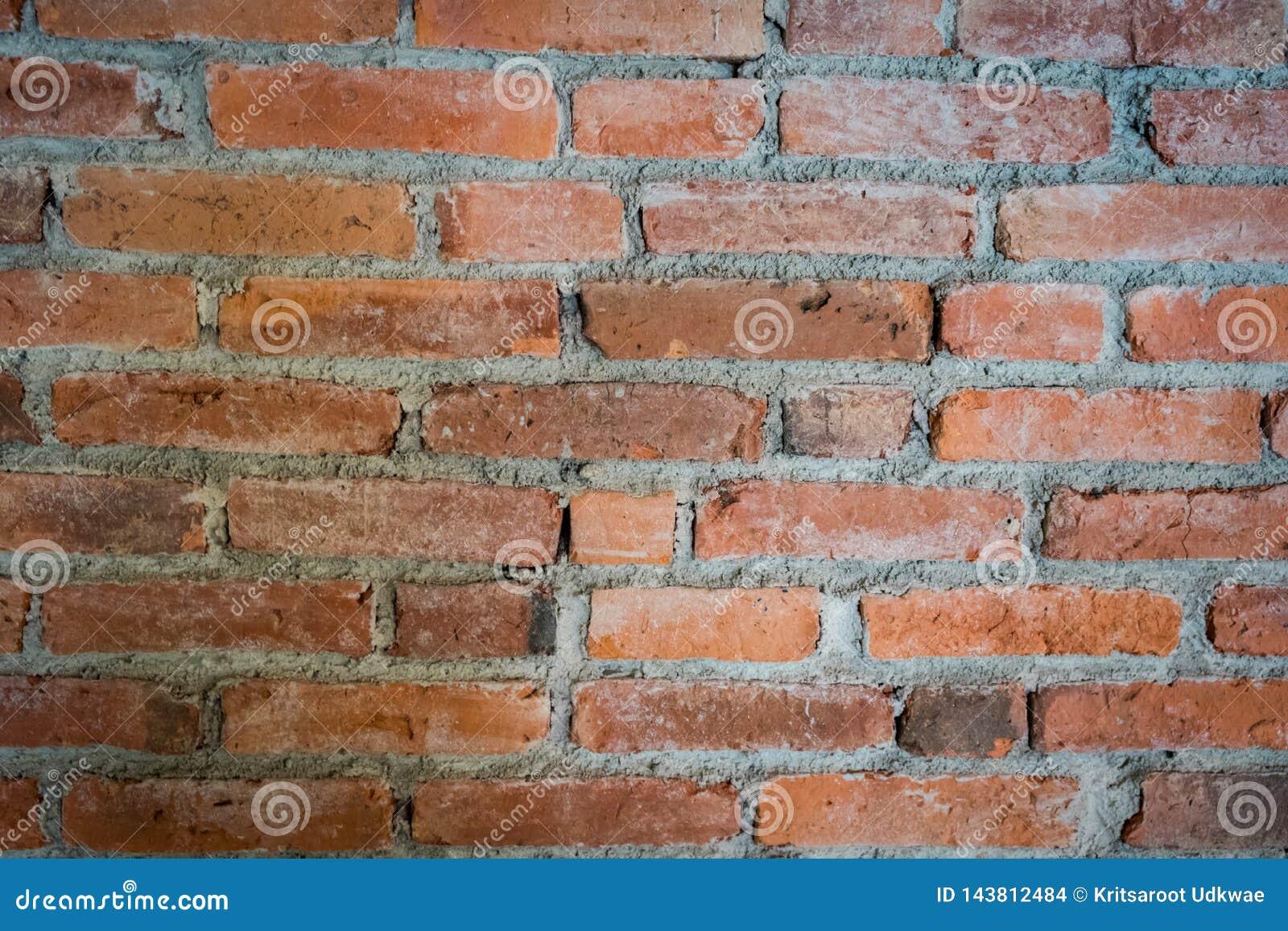 Sluit omhoog bakstenen muurtextuur Bakstenen muurachtergrond