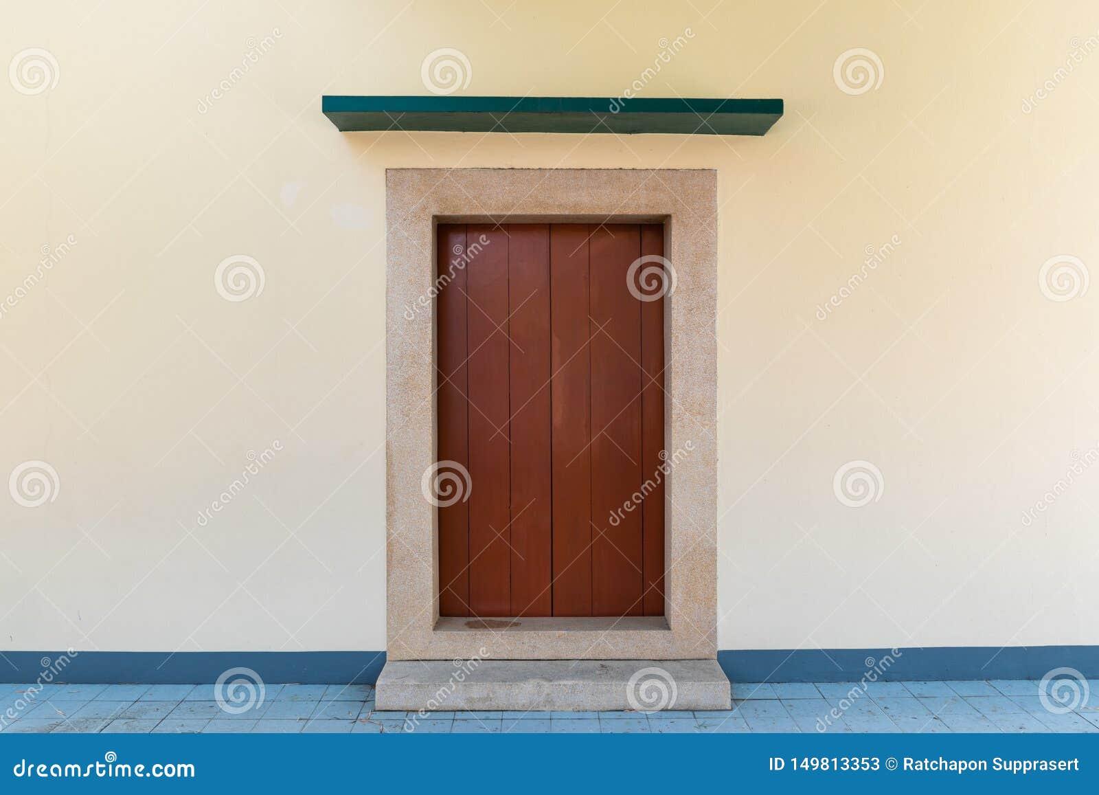Sluit omhoog Chinese stijl houten deur