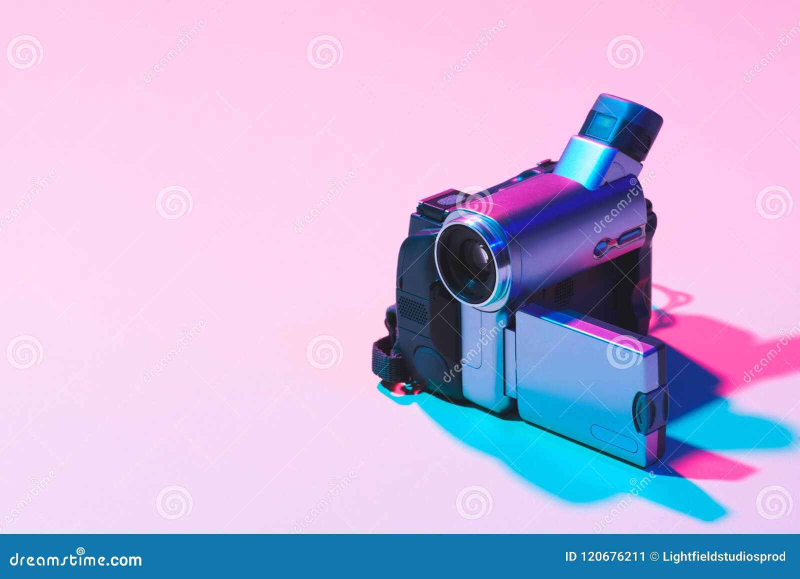 Sluit omhoog mening van digitale videocamera