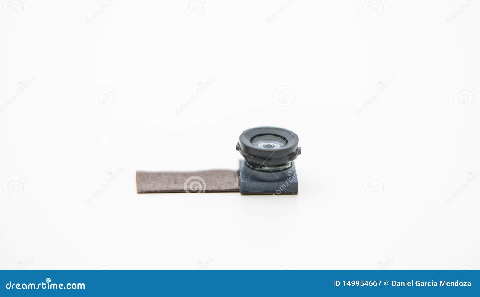 Sluit omhoog op een cameramodule voor mobiele telefoon Close-up van Smartphone-Lens