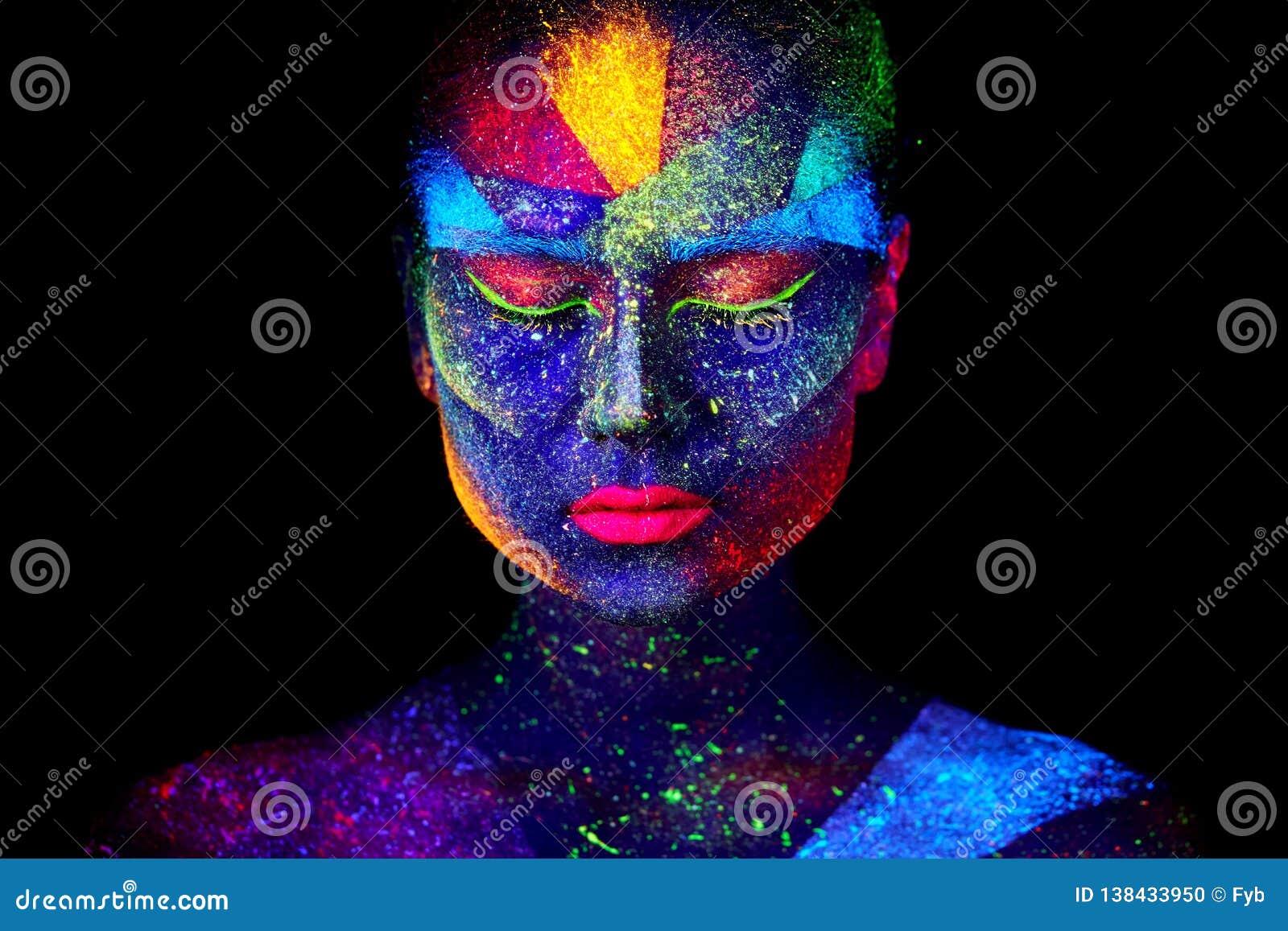 Sluit omhoog UV abstract portret