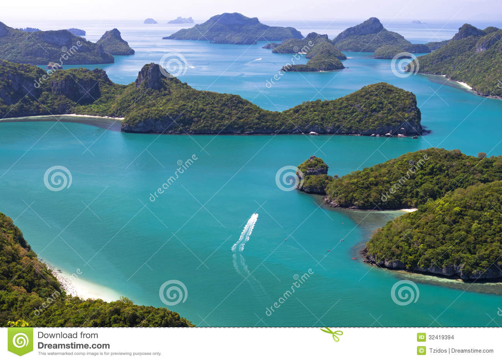 Sluit Omhoog Van Ang Thong National Marine Park, Thailand ...