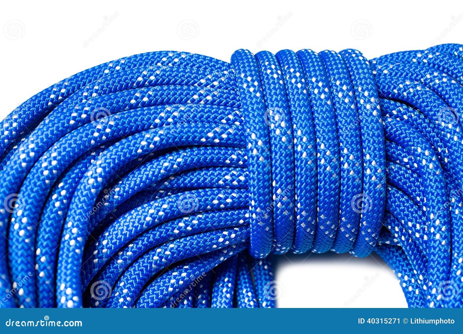 Sluit omhoog van bocht van dynamische kabel gebruikend in sport het beklimmen