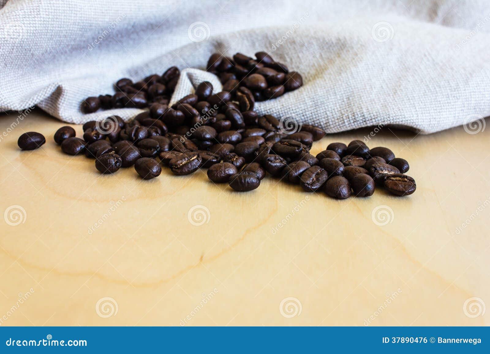Sluit omhoog van koffiebonen
