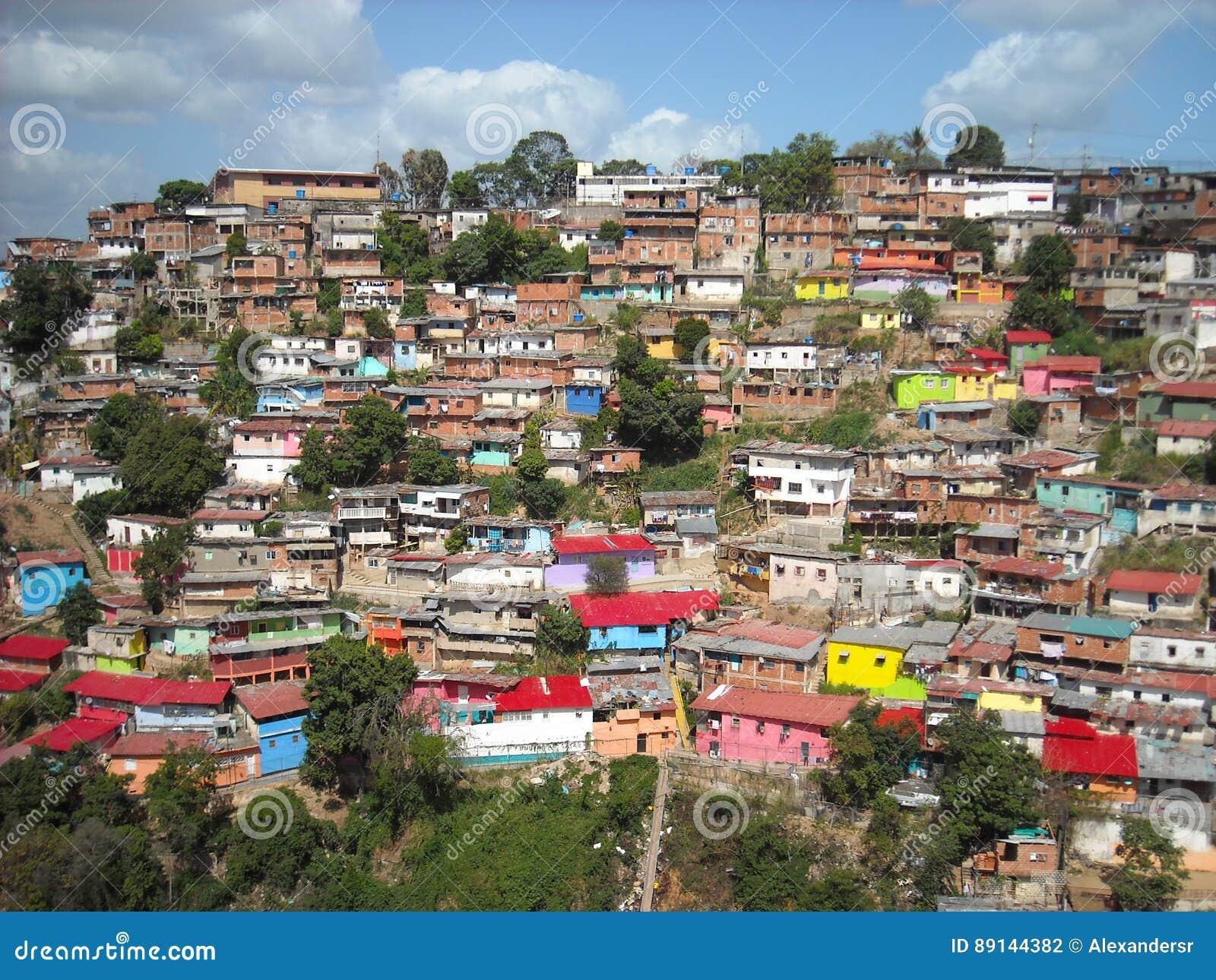 Slum on hills,Caracas, Venezuela
