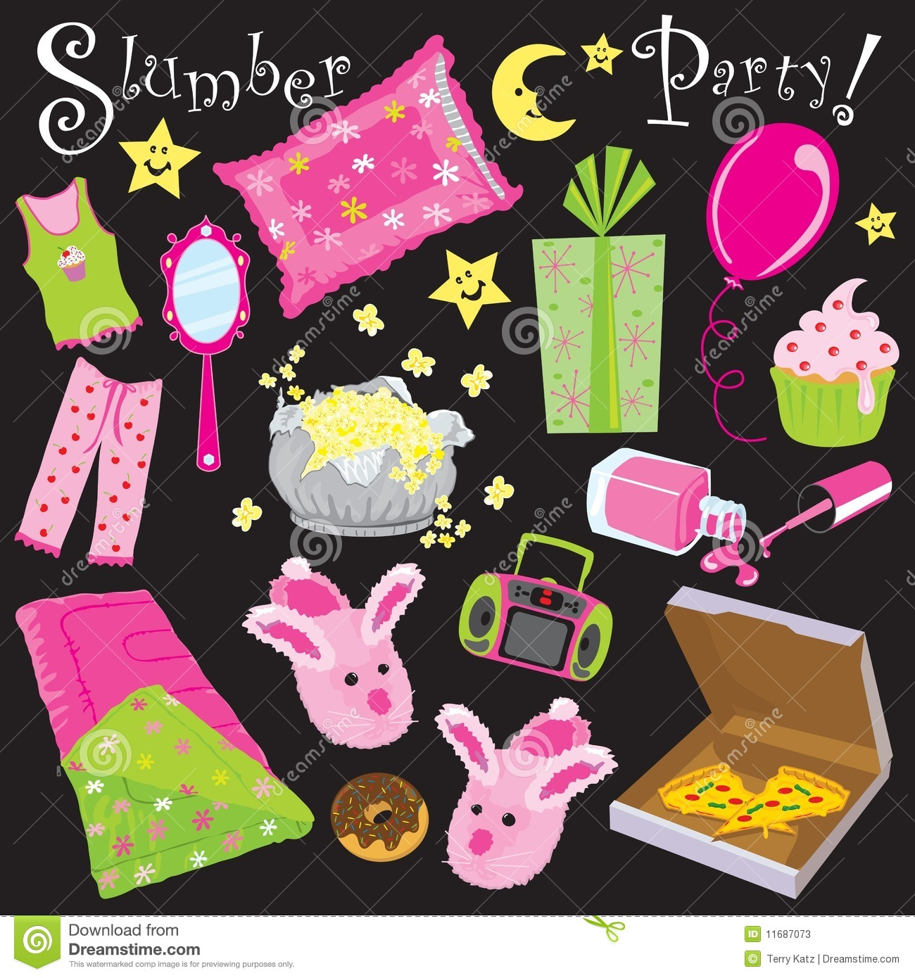 Slumber Party! Stock Photos - Image: 11687073