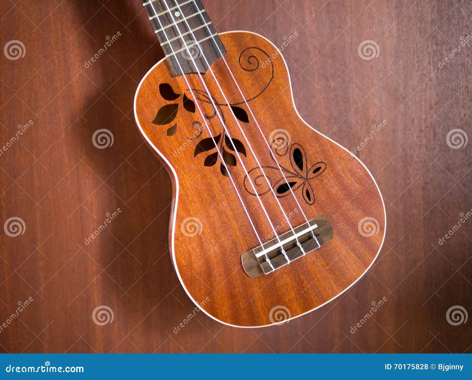 Slut upp av den hawaii ukulelet