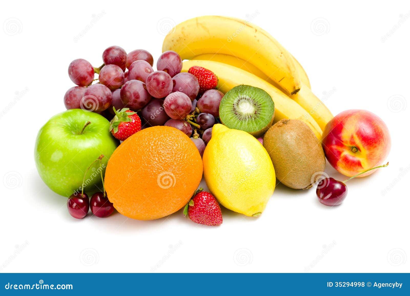 Slut upp av högen av frukt