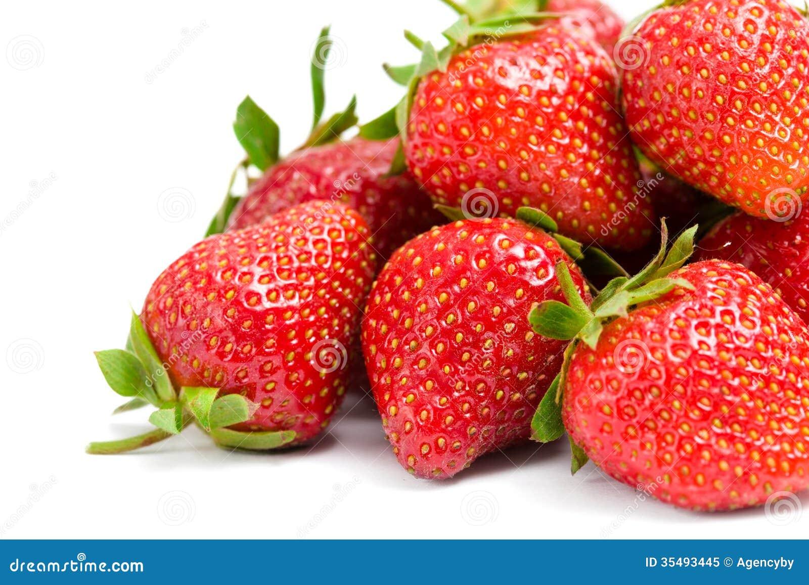 Slut upp av högen av jordgubben