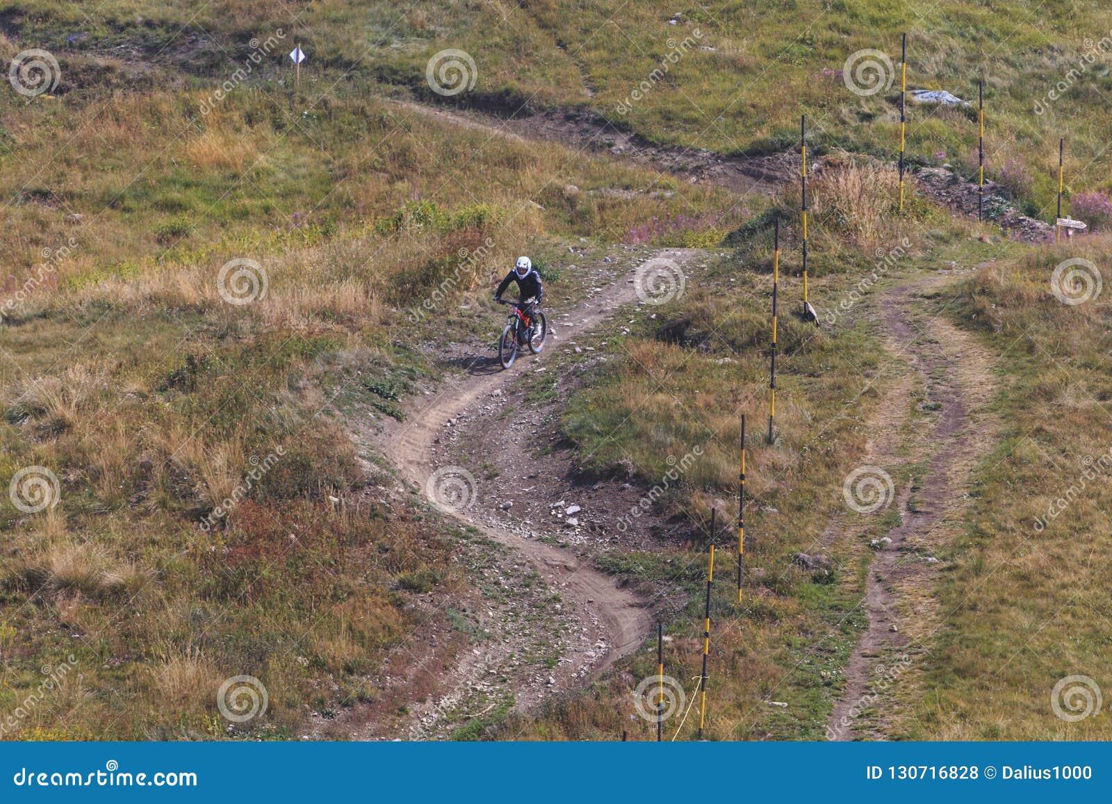 Sluttande cykel för manridningberg
