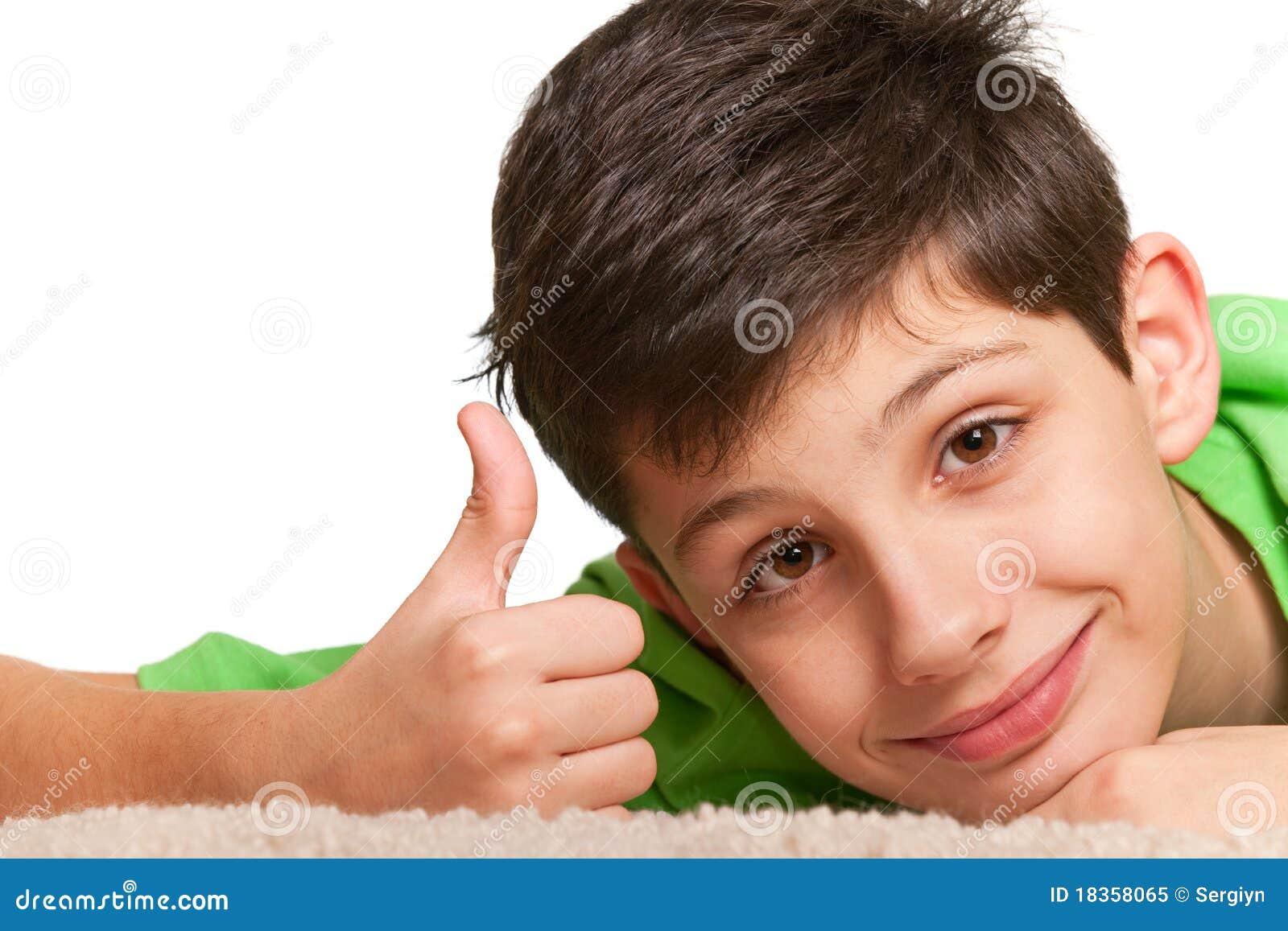 Sly Look Of Happy Boy Royalty Free Stock Photo Image