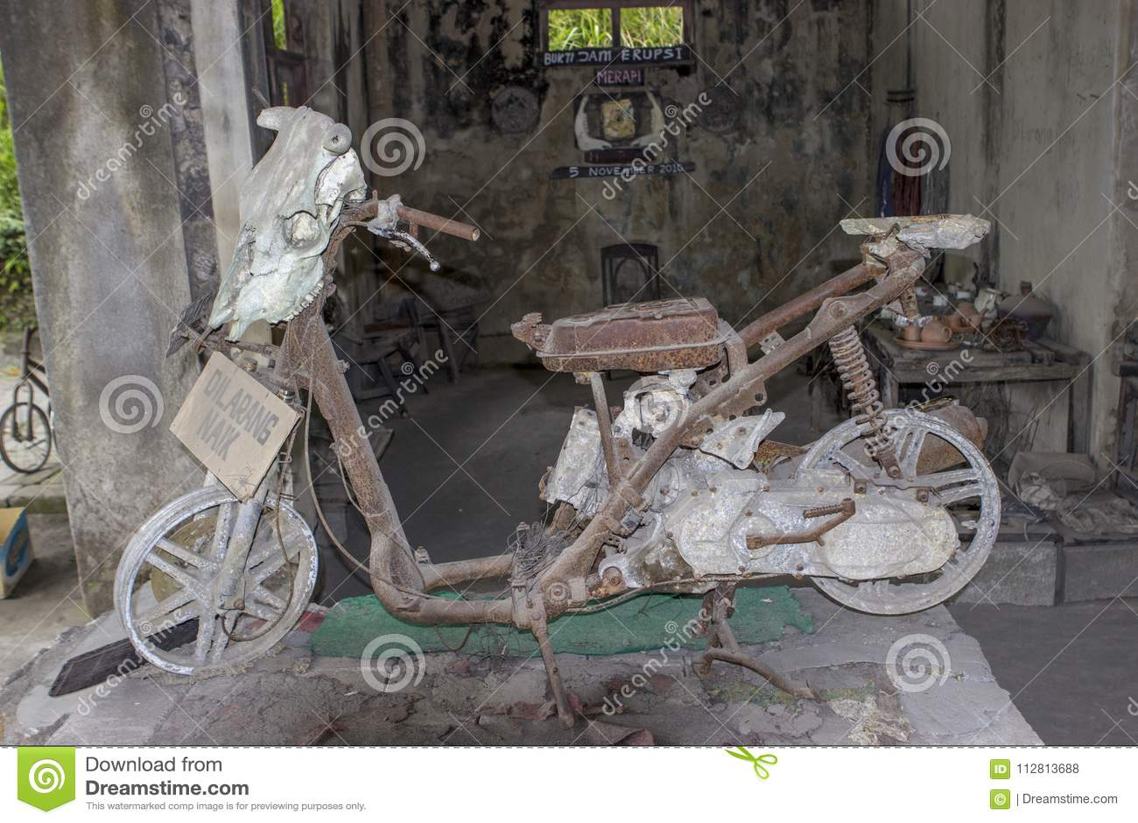 Smält sparkcykelvulkanutbrott